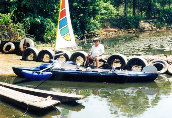 Ray  Wijewardene at his favourite spot on Bolgoda Lake