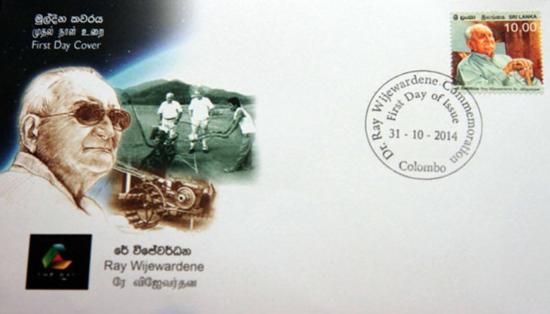 Ray Wijewardene First Day Cover, issued on 31 Oct 2014