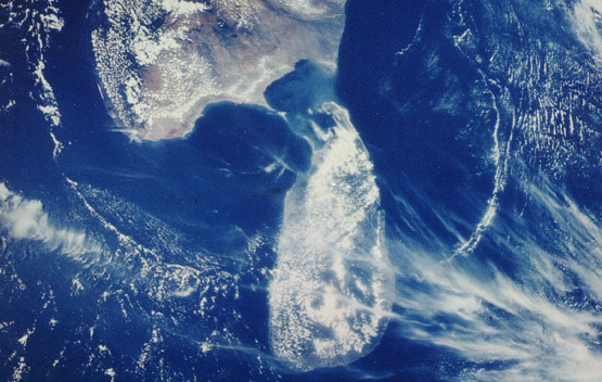 NASA, satellite image of Sri Lanka