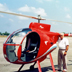 Ray Wijewardene proudly displays his home-built single-seater helicopter named Sootikka. Circa mid or late 1990s.