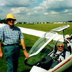 Back to gliding: Ray returns to a favourite sport in his 70s? Date and location not known.
