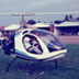 Ray Wijewardene takes a friend flying in his home-built two-seater helicopter at Ratmalana Airport, Sri Lanka. Circa 1992.