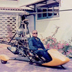 Ray Wijewardene in the front yard of his Colombo home with an autogyro – Bambara