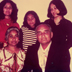 The Wijewardenes in London, circa mid 1970s: Clockwise from top left -  Anoma, Mandy, Roshini, Ray and Seela