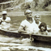 Ray Wijewardene (seated behind wife Seela and youngest daughter Mandy) enjoying a boat ride in the Philippines, circa early 1970s.